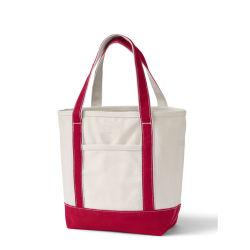 Custom naturel Deux tonalités de taille standard d'épaisseur de 12 oz sac fourre-tout en toile de coton imprimée avec poche de l'extérieur