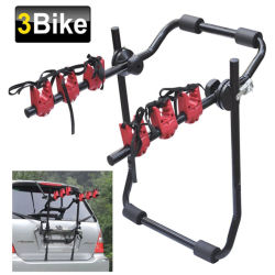 3 Montado na Traseira Universal Aluguer de carro de bicicleta de ciclo de rack do Transportador
