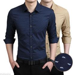 Fabricante de Guangzhou Long-Sleeved casual Ropa de trabajo Slim Fit camiseta de la fábrica de seda más barato Hotsale