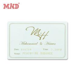 Luxueusement Wedding Invitation imprimée avec la carte en plastique PVC de personnalisation de carte personnalisée