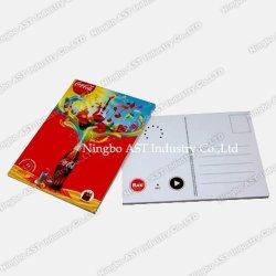 Tarjeta postal de grabación de música, postales, tarjetas promocionales
