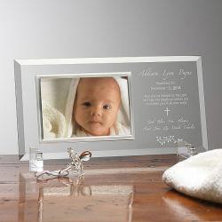 Jour de baptême favorise Verre en cristal personnalisé Cadre photo photo personnalisé pour Bébé Cadeaux