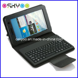 Mini clavier sans fil Bluetooth pour Samsung Galaxy Tab Etui en cuir