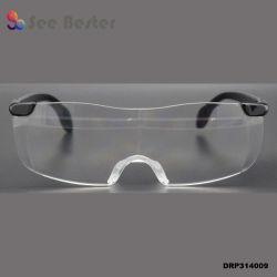 160 % Big Vision loupe un pouvoir d'Injection Plastique PC TV Vision lunettes de lecture de la promotion des lunettes avec du silicone Nosepad