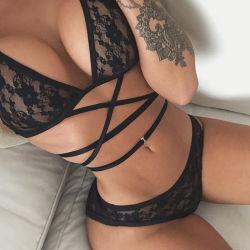 As mulheres Lace duas peças de Bra e meias Babydoll Definir Recorte lingerie sexy Sleepwear dormir14207 ESG