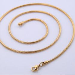 Collana rotonda popolare della catena del serpente per i monili dell'acciaio inossidabile