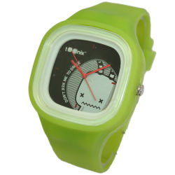 Green Cartoon Figure Silicone Watch (ARS-PS007)