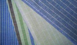 Tessuto tinto filo lino/cotone per camicie