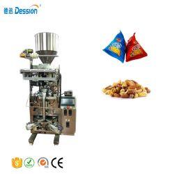 El envasado automático de llenado vertical la tuerca de maní de Chocolate en el triángulo de máquinas de embalaje saquito.