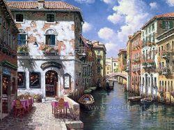 A arte de lona Veneza pintura a óleo para decorativos de parede