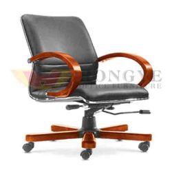 Couro rotativo ergonómico moderno cadeira de escritório cadeira executiva (HY-D-329)