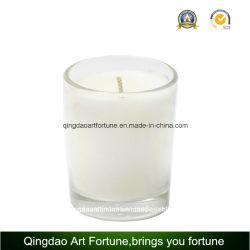 Lleno de cera de vela votiva de vidrio para decoración de boda Día de la madre