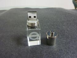 Memoria Flash USB transparente de cristal (OM-P107).