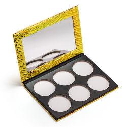 Mermaid PU Gold Paleta Eyeshadow embalagens personalizadas de couro