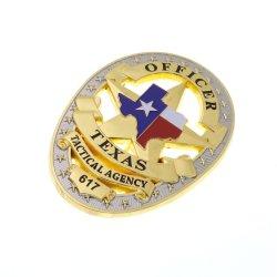 La fábrica de aleación de zinc personalizado chapado en oro en 3D personalizado el Emblema del ejército de la Policía Militar de premio nos pasadores insignias del Deporte Escolar de metal esmaltado insignias de artesanía