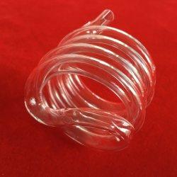 Resistencia al calor espiral de sílice fundida opaca el tubo de cristal de cuarzo se utiliza en la luz de la calefacción