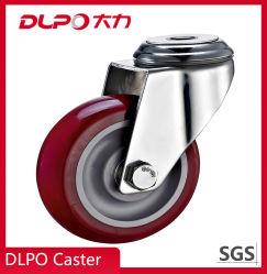 5'' de acero inoxidable de carga máxima 130 kg Carrito de ruedas de poliuretano Caster