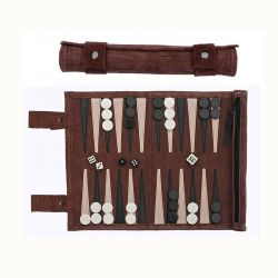 Le Backgammon Checkers Roll up Style Backgammon de voyage