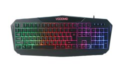Juegos de RGB de 19 teclas del teclado, no hay desdoblamiento para juegos, puerto USB