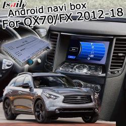 Lsailt著任意選択Waze Yandex CarplayのInfiniti Qx70/Fx37 Fx35 2012-2018年のための人間の特徴をもつGPSの航法システムボックス