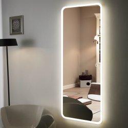 5mm Frameless monté sur un mur de la pleine longueur Salle à manger de grande taille miroir LED