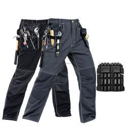 Unión Multi Pocket Ployester con algodón Mens colocar la carga de los pantalones