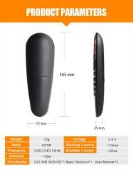 2.4 GHz sensores portáteis sem fios G30 Caixa Android Air Mouse TV controles remotos universais