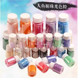 Natürliches Glimmer-Goldperlen-Pigment, Pearlescent Pigment, Glimmer-Goldperlen-Glanz-Puder, für Lacke, Plastik, Kosmetik, Tinte