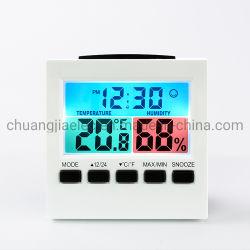 Voyant d'accueil de la mode moderne Horloge de bureau numérique avec la température et humidité