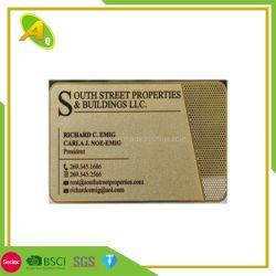 금 미러 금속 명함 주문 미러 스테인리스는 관례에 의하여 인쇄된 돋을새김한 금속 알루미늄 명함을 카드에 적는다