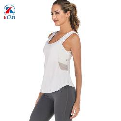 Sexy Hol schakelt uit de Bovenkant van de Yoga van de Tank van de Gymnastiek van de In te ademen Sleeveless van het Gewas Hoogste van de Training van Activewear Vrouwen van de Reeksen in