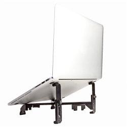 L'Aise ventilé pliable réglable Socle pour ordinateur portable en acier au carbone pour le travail
