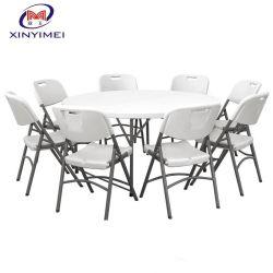 Mobiliário de exterior barata caso Partyportable Casamento Jardim Piquenique plástica redonda mesa de jantar de dobragem
