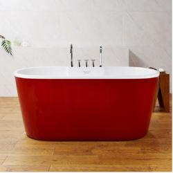 Fornitore della vasca da bagno della vasca da bagno smaltato mano su ordinazione del ghisa della vasca di colore