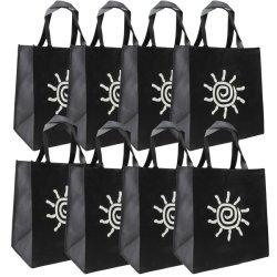 Fabrication en usine à bon marché Logo d'impression personnalisée personnalisé de la promotion d'épicerie réutilisables Eco non tissé de polyester en toile de coton Shopping sac fourre-tout sac cadeau avec lacet de serrage
