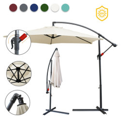 3m(10ft) 실외 정원 파티오 스틸 우산