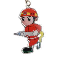 La conception personnalisée pour les cadeaux pompier de l'artisanat trousseau de métal