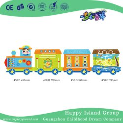 As crianças pré-escolares jogar jogos de parede pequeno comboio brinquedos educativos (HJ-23002)