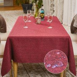 Impermeabile personalizzata riutilizzabile biancheria da letto rettangolare tavolo copricaletto Wedding Tessuto da tavolo