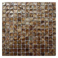 300X300 de color marrón oscuro Natural Sea Concha Nácar mosaico baño