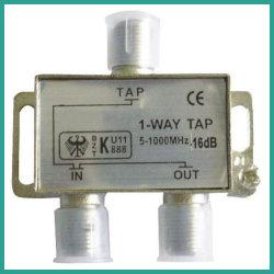 Divisor CATV Divisor de amplificador de satélite 1 Caminho Tap (5-1000MHz)