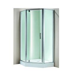 Алюминиевый сплав стеклянной душевой раздел сдвиньте корпус душ рамы