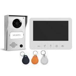 """Pulsante touch bianco per videocitofono con schermo da 7"""" e 2 W con tecnologia Leon"""