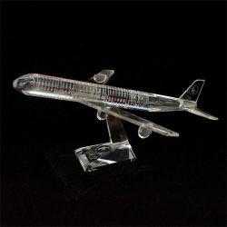 Modello dell'aereo a cristallo dei regali K9 della decorazione di affari