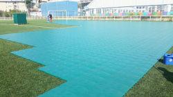 Anti-Slittare la pavimentazione di collegamento modulare di protezione del tappeto erboso di sport esterni