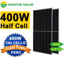 Comitato solare alimentato solare commerciale delle cellule mezze del caricatore 144cell 440W 24V 400W del telefono delle cellule del Yangtze