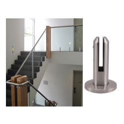 شرفة عصرية مصنوعة حسب الطلب وشرفة مربعة من الفولاذ المقاوم للصدأ الزجاج سكة حديد يدوية درابزين صغيرة ذات خط صغير وسلم