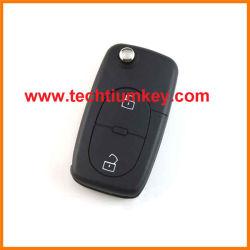 2 кнопка изменения складная Flip пульта дистанционного управления пустой скорлупы с логотипом для Audi A4, A6, A6LQ7, A8 пульта дистанционного управления замена