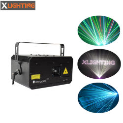 Luci laser del fascio della fase del proiettore di luce della fase del laser di RGB della strumentazione del DJ