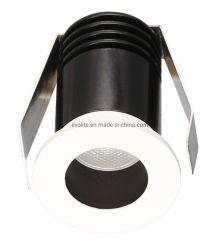 مصباح LED خفيف صغير من الألومنيوم مقطوع على الشاشة الخارجية المجوف الصغير 20 مم مصباح سفلي 1 وات 12 فولت